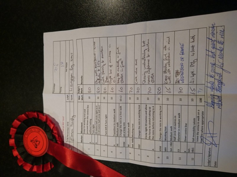 A win in Dressage